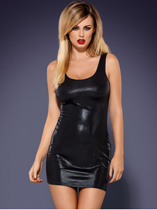 Obsydian wetlook dress