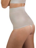 High Waist Shaping Thong - Beige