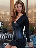Essential Satin & Leather Corset