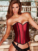 Satin Heart Corset - Red