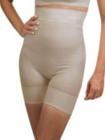 High Waist Slimming Shorts - Beige